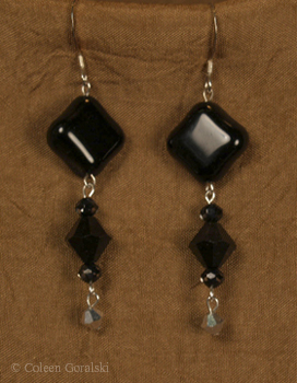 Black Onyx Swarsovski Earrings