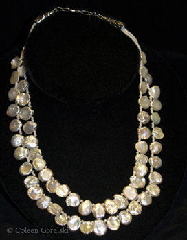 Keshi Pearls Double Stand -adjustable in length 19.5 at longest length 17 inches at the shortest length (1)