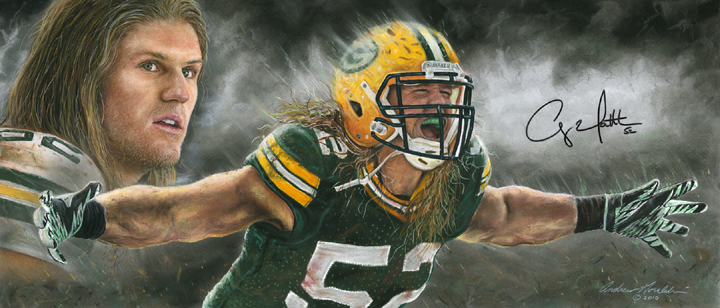 Autographed Clay Matthews 'Storm Chaser'